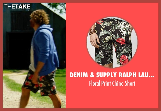 Denim & Supply Ralph Lauren black short from Transformers: Age of Extinction seen with T.J. Miller (Lucas)