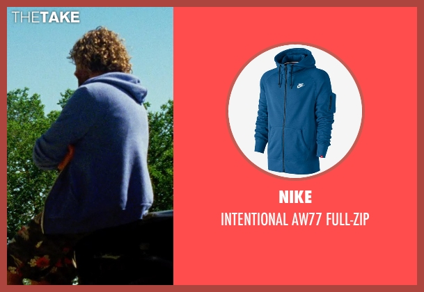 NIKE blue full-zip from Transformers: Age of Extinction seen with T.J. Miller (Lucas)