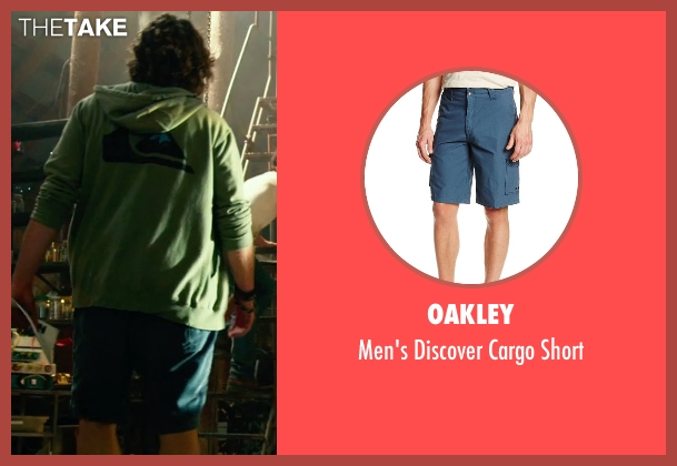 Oakley blue short from Transformers: Age of Extinction seen with T.J. Miller (Lucas)