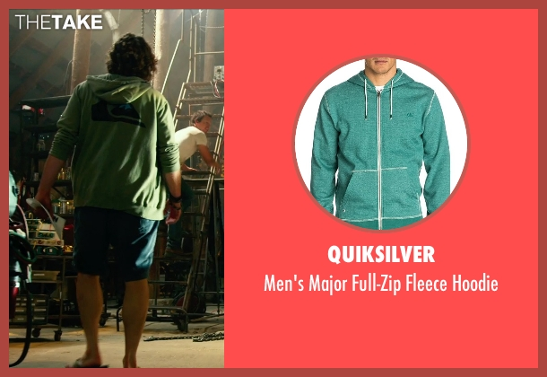 Quiksilver green hoodie from Transformers: Age of Extinction seen with T.J. Miller (Lucas)