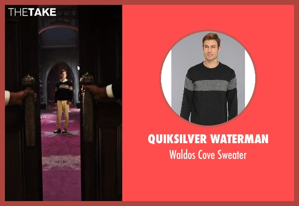 Quiksilver Waterman black sweater from The Great Gatsby seen with Tobey Maguire (Nick Carraway)