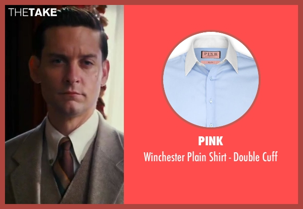 Pink blue cuff from The Great Gatsby seen with Tobey Maguire (Nick Carraway)