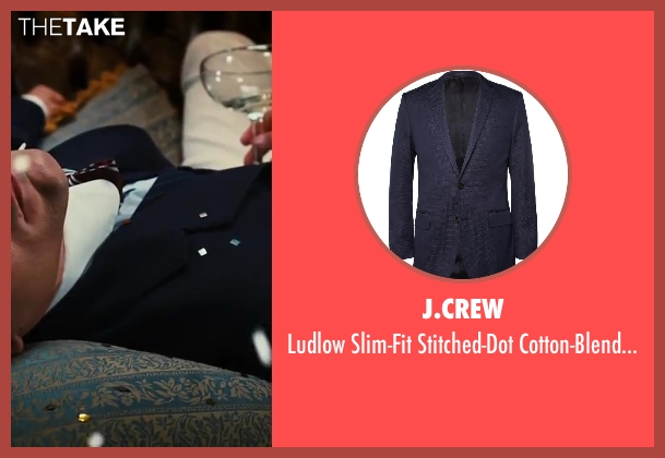 J.CREW blue jacket from The Great Gatsby seen with Tobey Maguire (Nick Carraway)