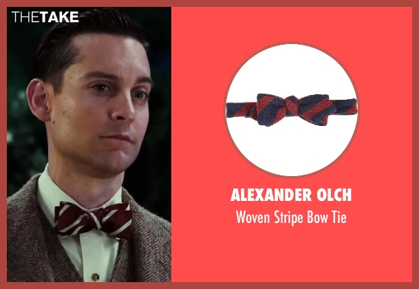 Alexander Olch tie from The Great Gatsby seen with Tobey Maguire (Nick Carraway)