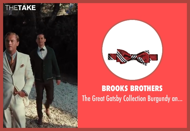 Brooks Brothers tie from The Great Gatsby seen with Tobey Maguire (Nick Carraway)