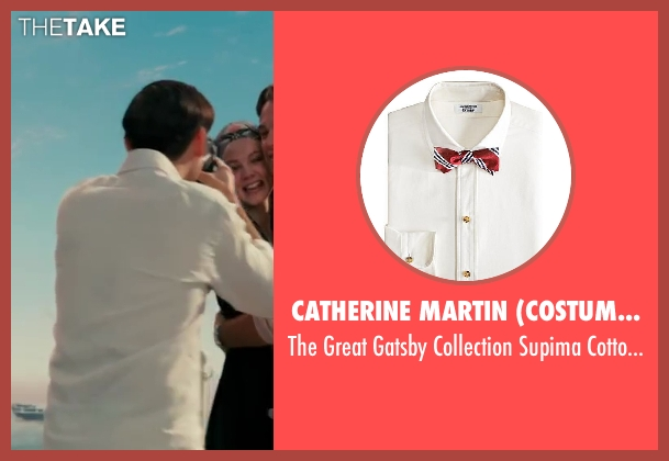 Catherine Martin (Costume Designer) and Brooks Brothers (Tailor) white shirt from The Great Gatsby seen with Tobey Maguire (Nick Carraway)
