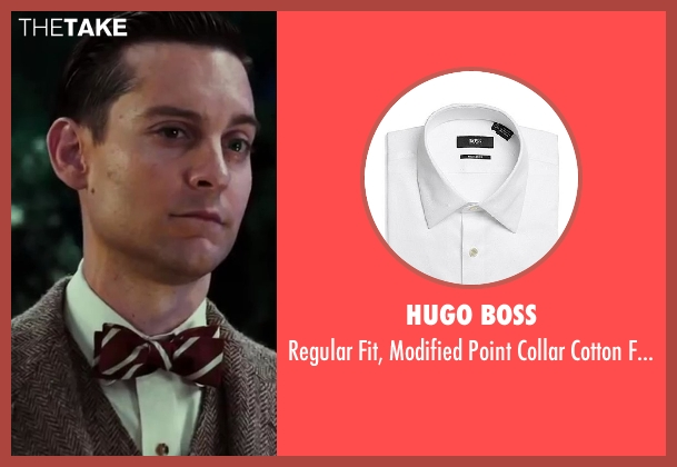 Hugo Boss white tuxedo from The Great Gatsby seen with Tobey Maguire (Nick Carraway)