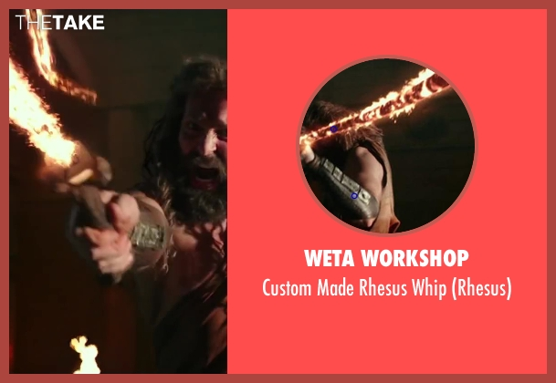Weta Workshop whip from Hercules seen with Tobias Santelmann (Rhesus)