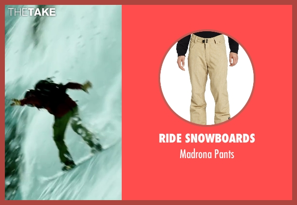 Ride Snowboards beige pants from Point Break seen with Tobias Santelmann (Chowder)