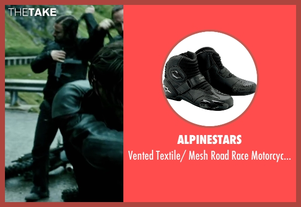 Alpinestars black boots from Point Break seen with Tobias Santelmann (Chowder)
