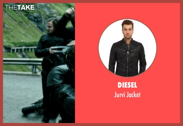 Diesel black jacket from Point Break seen with Tobias Santelmann (Chowder)