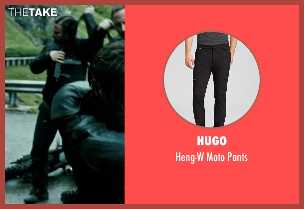 Hugo black pants from Point Break seen with Tobias Santelmann (Chowder)