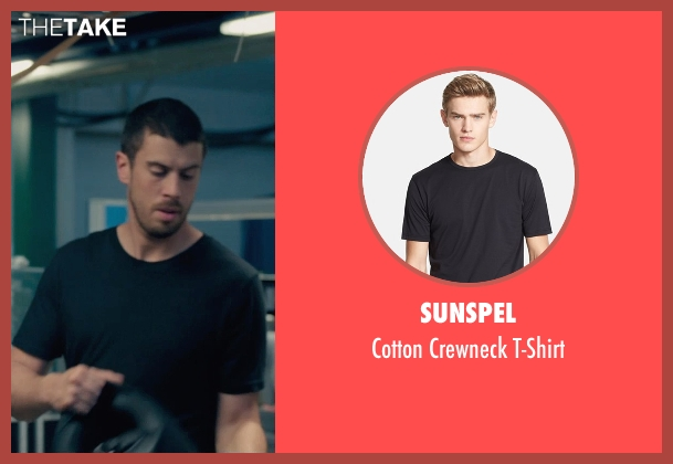 Sunspel black t-shirt from Fantastic Four seen with Toby Kebbell (Victor Domashev)