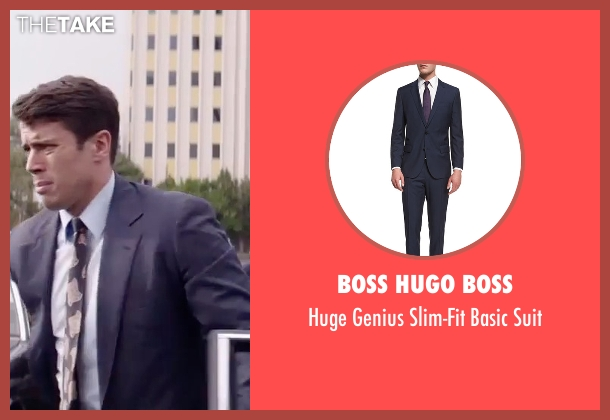 Boss Hugo Boss blue suit from Gold seen with Toby Kebbell (Jennings)