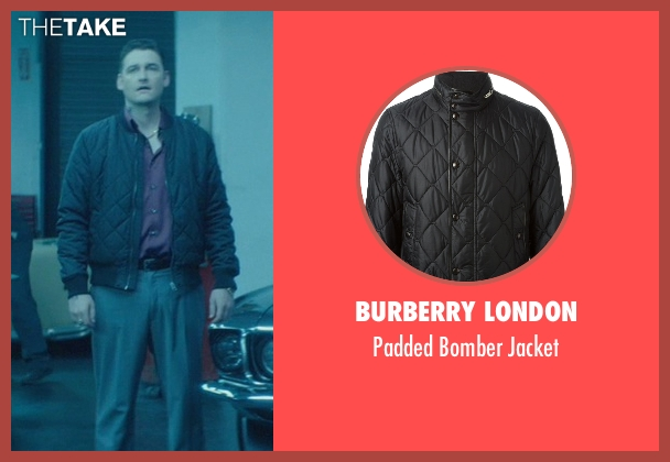 Burberry London black jacket from John Wick seen with Toby Leonard Moore (Victor)
