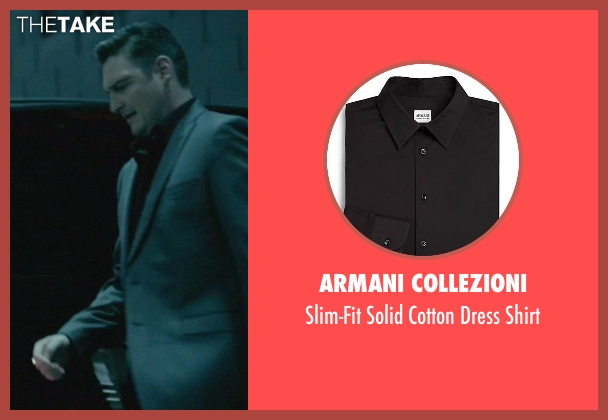 Armani Collezioni black shirt from John Wick seen with Toby Leonard Moore (Victor)
