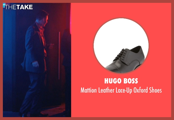 Hugo Boss black shoes from John Wick seen with Toby Leonard Moore (Victor)