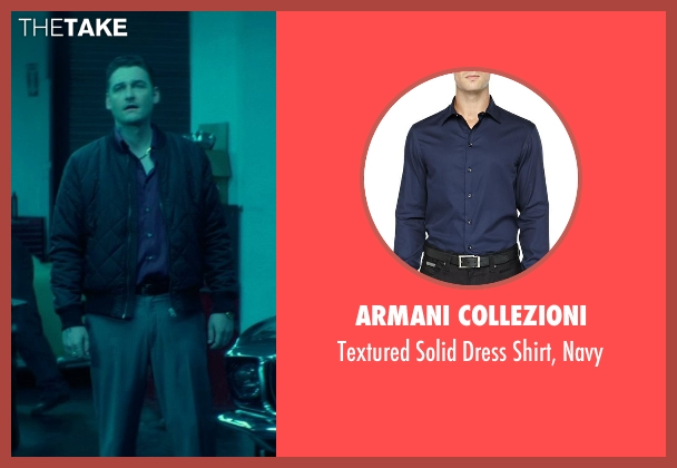 Armani Collezioni blue navy from John Wick seen with Toby Leonard Moore (Victor)
