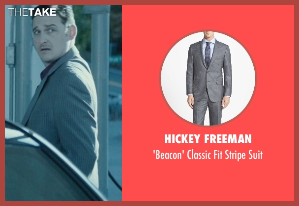 Hickey Freeman gray suit from John Wick seen with Toby Leonard Moore (Victor)