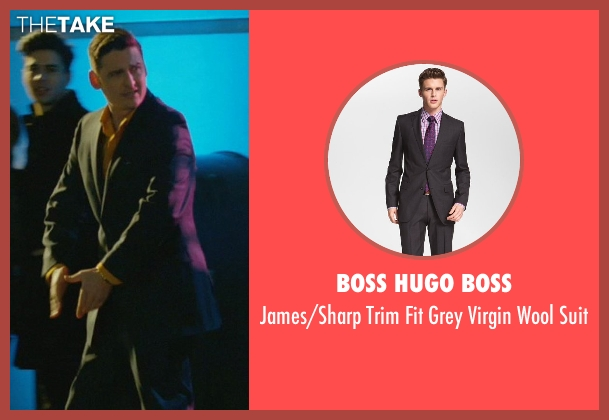 Boss Hugo Boss gray suit from John Wick seen with Toby Leonard Moore (Victor)