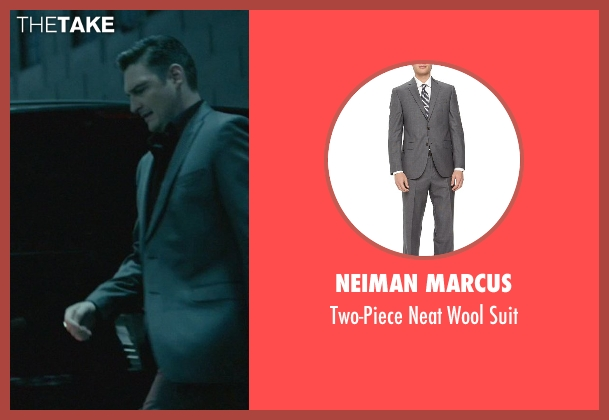 Neiman Marcus gray suit from John Wick seen with Toby Leonard Moore (Victor)