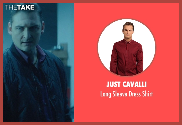 Just Cavalli red shirt from John Wick seen with Toby Leonard Moore (Victor)
