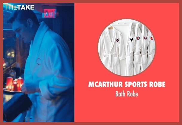 McArthur Sports Robe white robe from John Wick seen with Toby Leonard Moore (Victor)