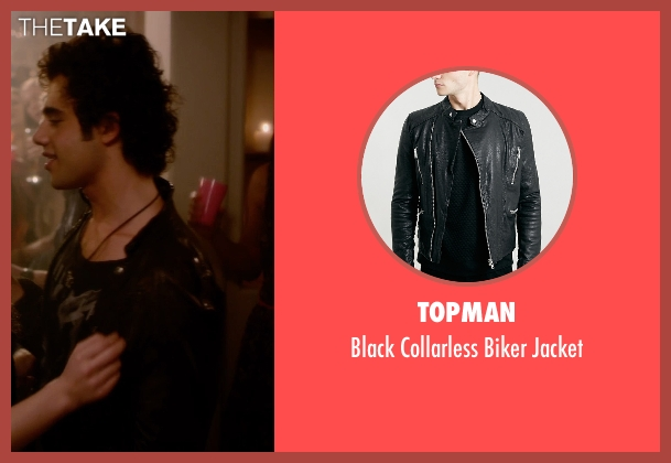 Topman black jacket from Barely Lethal seen with Toby Sebastian (Cash Fenton)