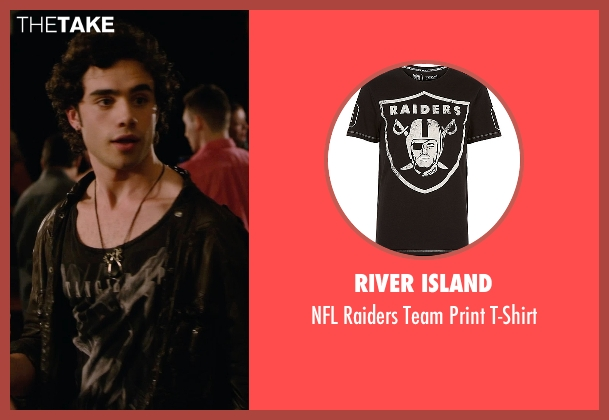 River Island black t-shirt from Barely Lethal seen with Toby Sebastian (Cash Fenton)