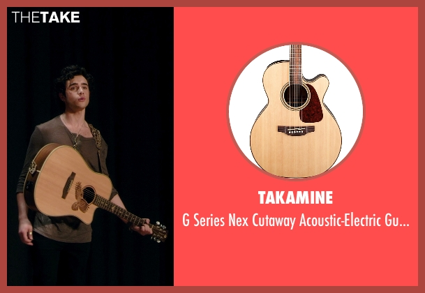 Takamine guitar from Barely Lethal seen with Toby Sebastian (Cash Fenton)