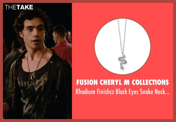 Fusion Cheryl M Collections silver necklace from Barely Lethal seen with Toby Sebastian (Cash Fenton)