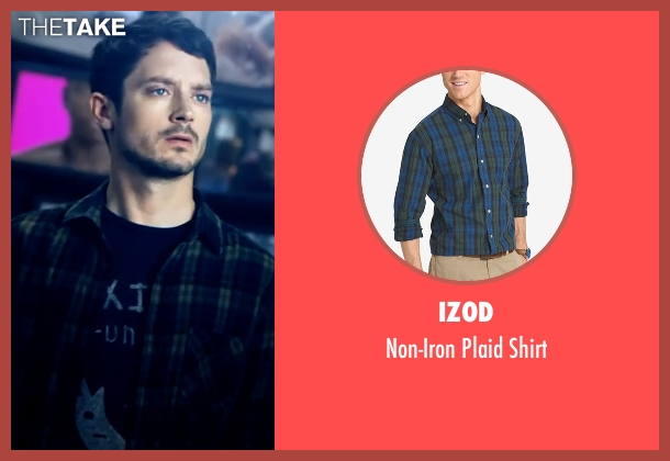 Izod shirt from Dirk Gently's Holistic Detective Agency seen with Todd Brotzman (Elijah Wood)