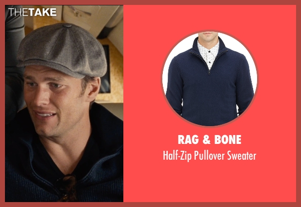 Rag & Bone blue sweater from Entourage seen with Tom Brady (Unknown Character)