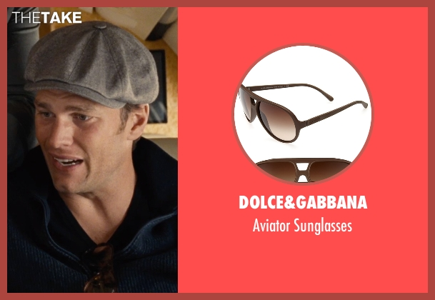 Dolce&Gabbana brown sunglasses from Entourage seen with Tom Brady (Unknown Character)