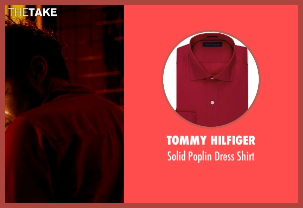 Tommy Hilfiger red shirt from Only God Forgives seen with Tom Burke (Billy)