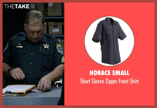 Horace Small blue shirt from Tomorrowland seen with Tom Butler (Sheriff)