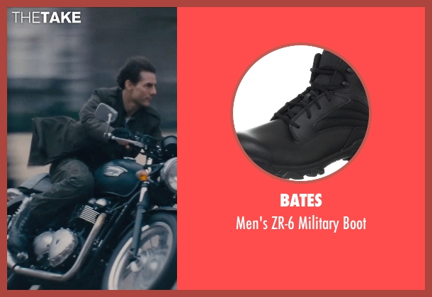 Bates black boot from Edge of Tomorrow seen with Tom Cruise (Lt. Col. Bill Cage)