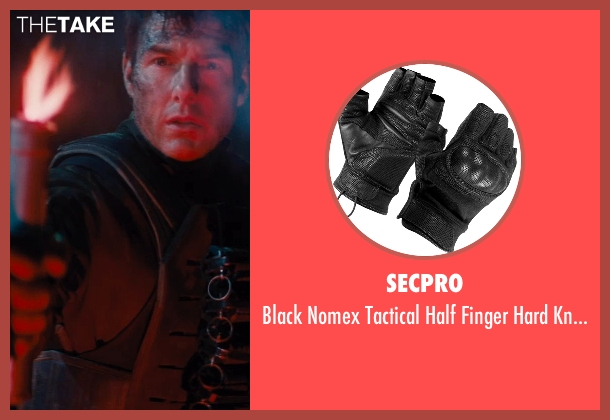 SecPro black gloves from Edge of Tomorrow seen with Tom Cruise (Lt. Col. Bill Cage)