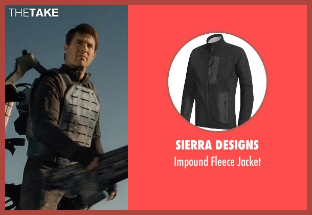 Sierra Designs black jacket from Edge of Tomorrow seen with Tom Cruise (Lt. Col. Bill Cage)