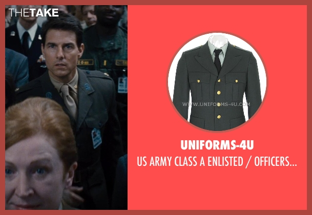 uniforms-4u coat from Edge of Tomorrow seen with Tom Cruise (Lt. Col. Bill Cage)
