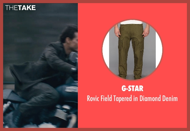 G-Star green denim from Edge of Tomorrow seen with Tom Cruise (Lt. Col. Bill Cage)