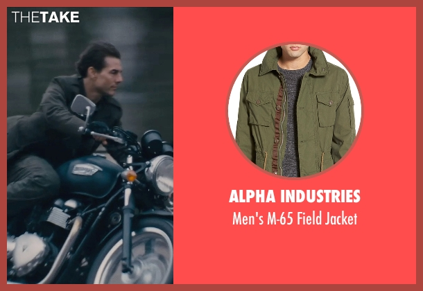 Alpha Industries green jacket from Edge of Tomorrow seen with Tom Cruise (Lt. Col. Bill Cage)