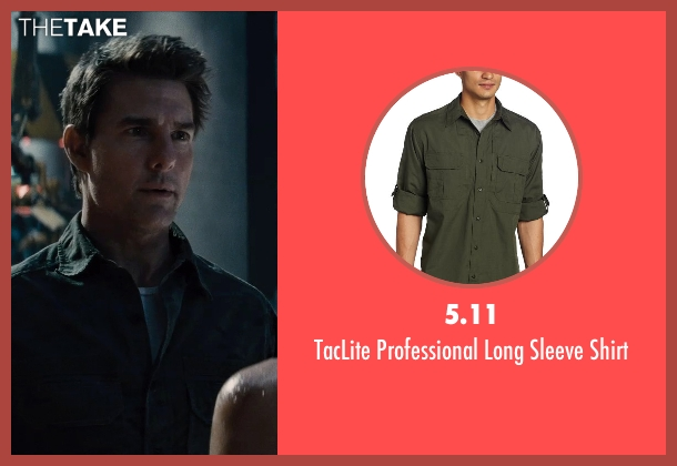 5.11 green shirt from Edge of Tomorrow seen with Tom Cruise (Lt. Col. Bill Cage)