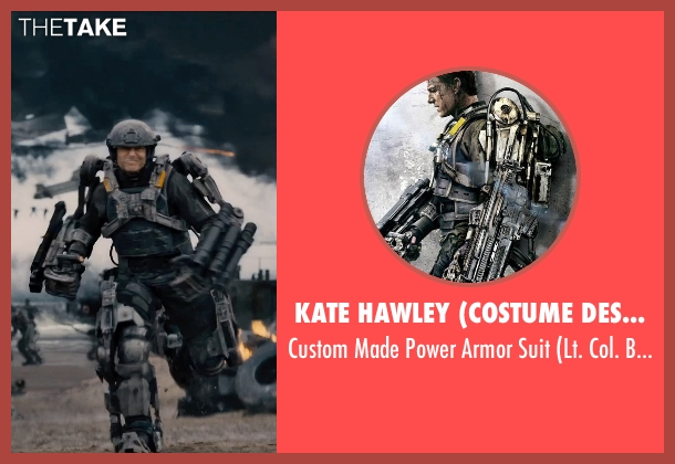 Kate Hawley (Costume Designer) suit from Edge of Tomorrow seen with Tom Cruise (Lt. Col. Bill Cage)