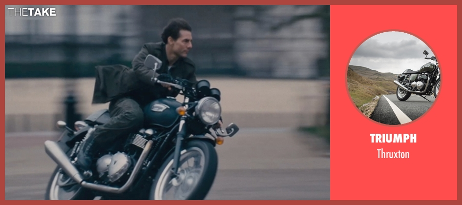 Triumph thruxton from Edge of Tomorrow seen with Tom Cruise (Lt. Col. Bill Cage)