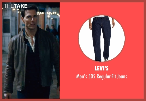 Levi's blue jeans from Jack Reacher seen with Tom Cruise (Jack Reacher)