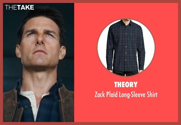 Theory blue shirt from Jack Reacher seen with Tom Cruise (Jack Reacher)