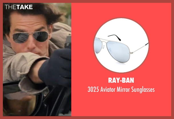Ray-Ban silver sunglasses from Knight and Day seen with Tom Cruise (Roy Miller)