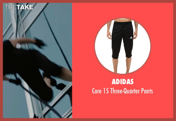 Adidas black pants from Mission: Impossible - Ghost Protocol seen with Tom Cruise (Ethan Hunt)
