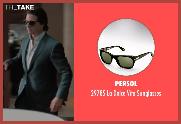 Persol black sunglasses from Mission: Impossible - Ghost Protocol seen with Tom Cruise (Ethan Hunt)